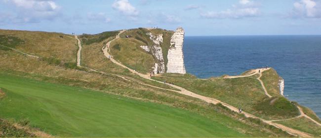 Golfen an der Atlantikküste Frankreichs, Golf und Wohnmobil in Frankreich, Golfclub Etretat