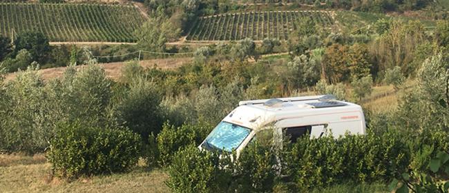Wohnmobilstellplatz in der Toskana, Weinprobe Toskana